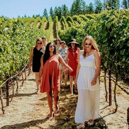 stagette party full day scenic sip wine tour at Ex Nihilo in Lake Country