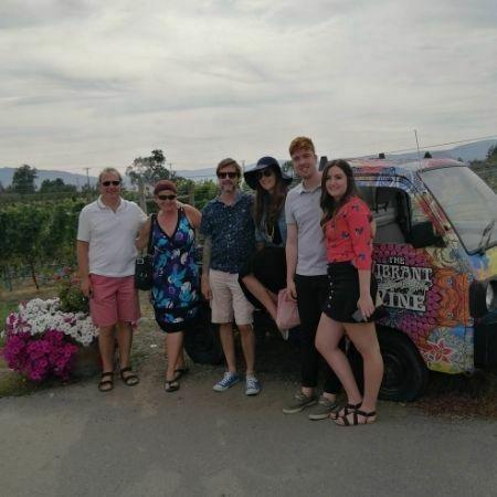 family on half day morning kelowna wine tour at the vibrant vine