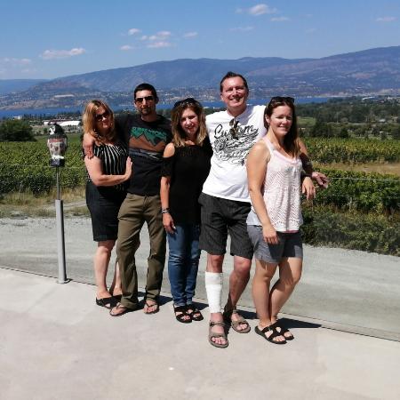 family kelowna wine tour at tantalus vineyards